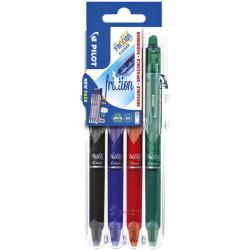 Gumovací propisky PILOT Frixion Clicker - sada 4 barev Set2Go BASIC