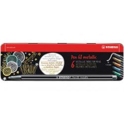 STABILO Pen 68 metallic - prémiový metalický vláknový fix