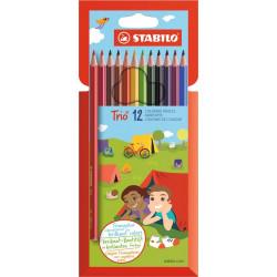 Sytobarevné trojhranné pastelky STABILO Trio