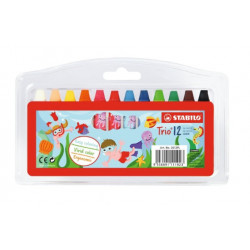 STABILO® Trio® oil pastel 12 ks