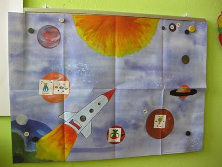 Předškolákovy týdeníčky: kosmická mapa (papír)